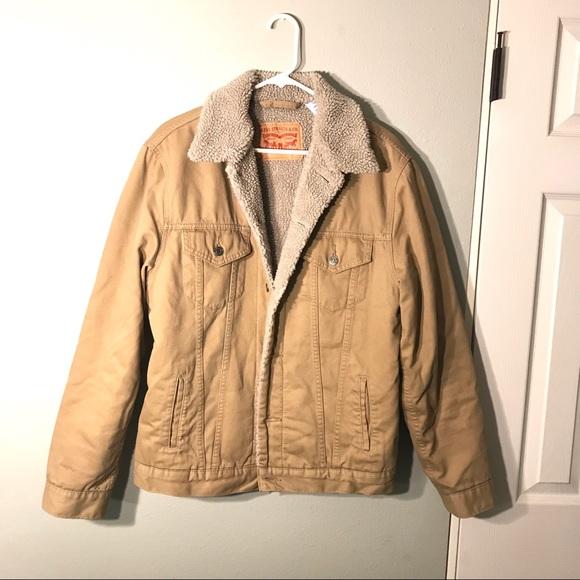 Levi's Other - ❌ SOLD Levi's Mens Sherpa Trucker Jacket Begie